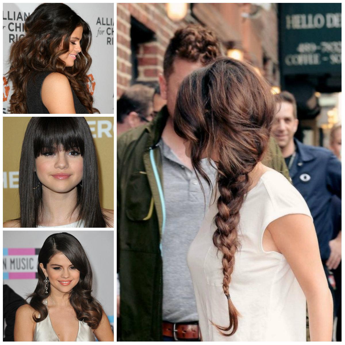 Selena Gomez Penteado e Corte de cabelo Ideias