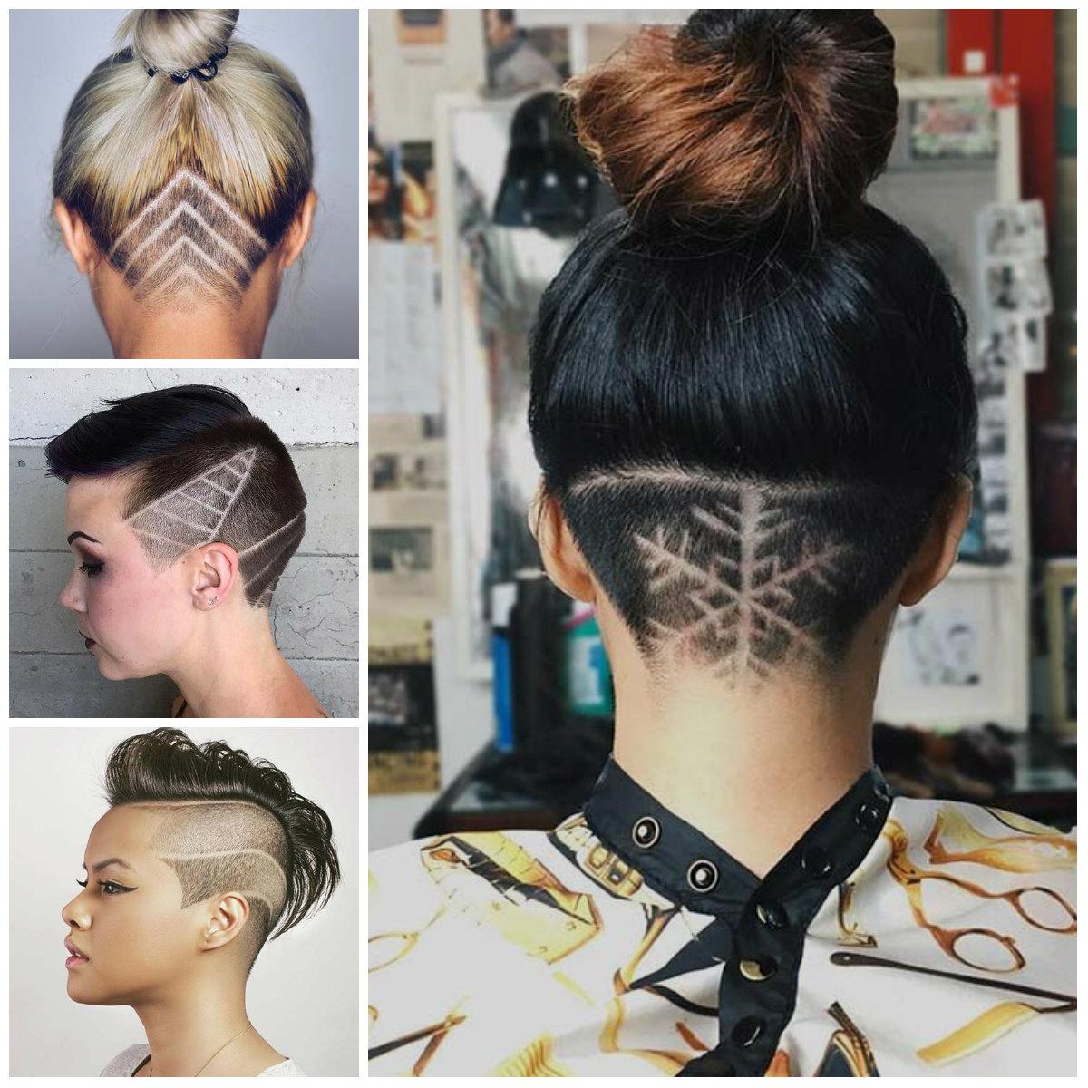 Fêmeas Minar Penteados com Cabelo Tatuagens para 2017