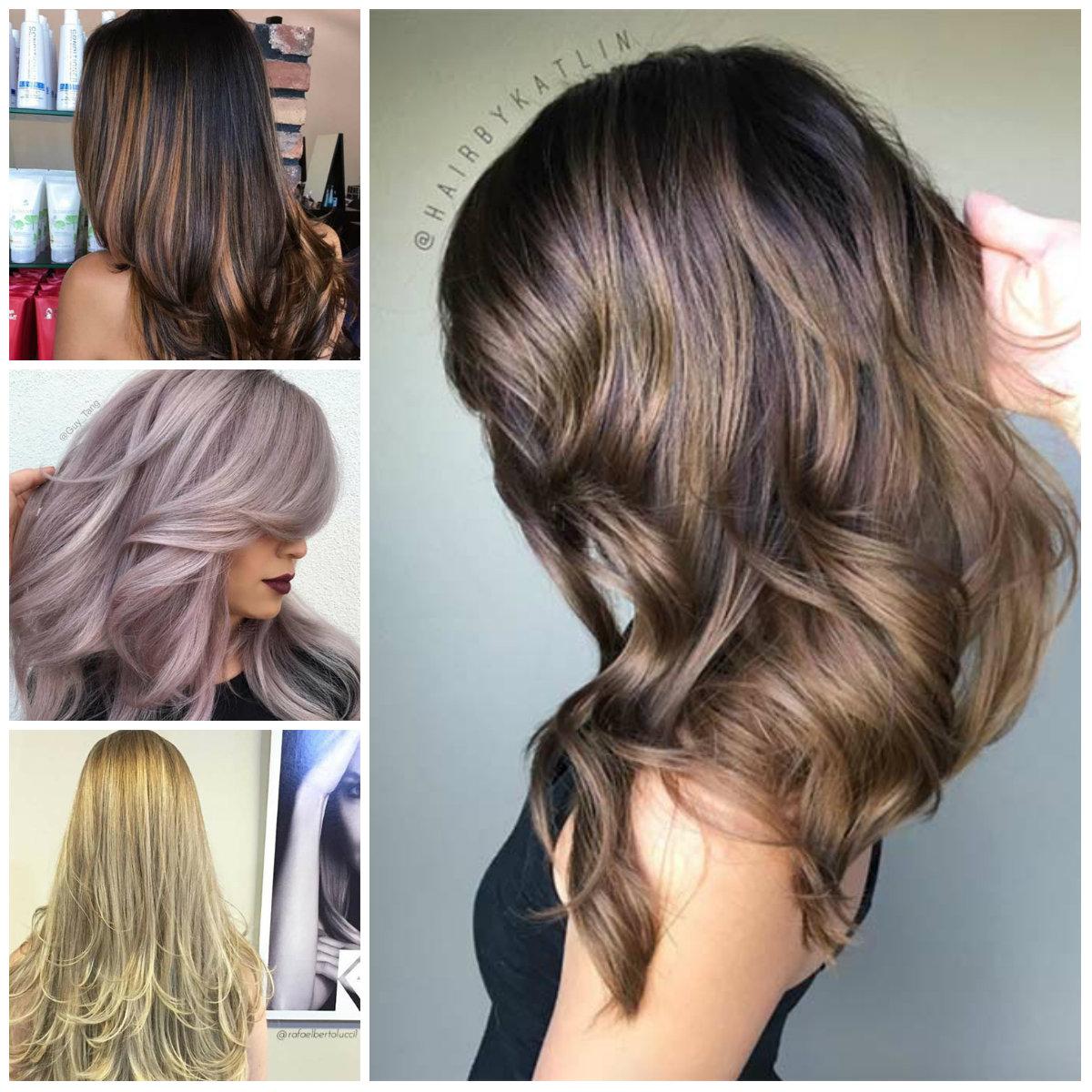 De 2017 em Camadas Cortes de cabelo e Penteados para Cabelos Longos