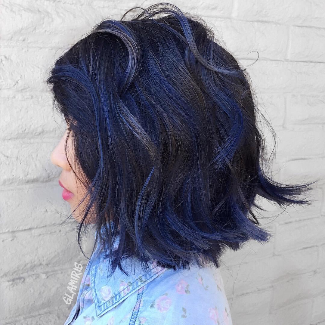 Azul Preto Penteado Ideias