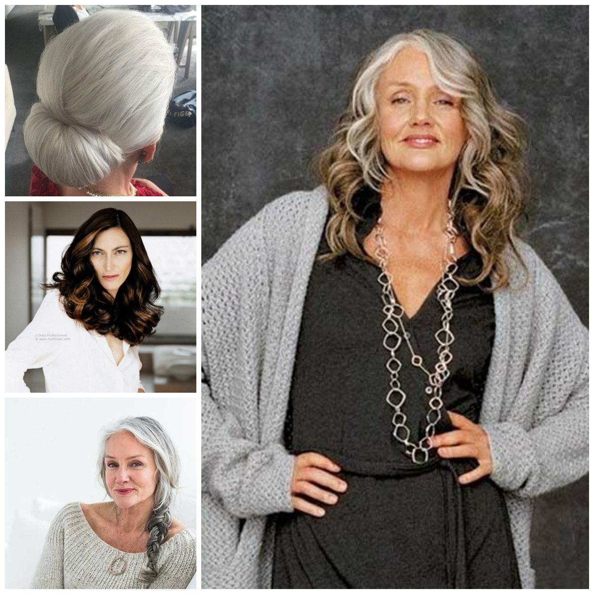 Penteados longos para Mulheres Maduras para 2017