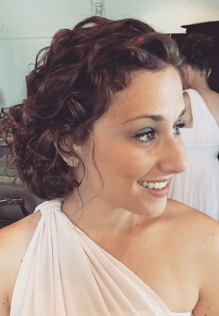 Linda Curly Penteados Updo para 2017