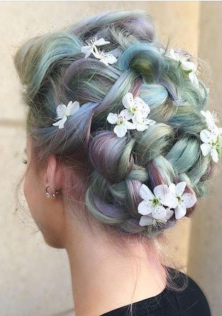 Pastel Tranças com Flores