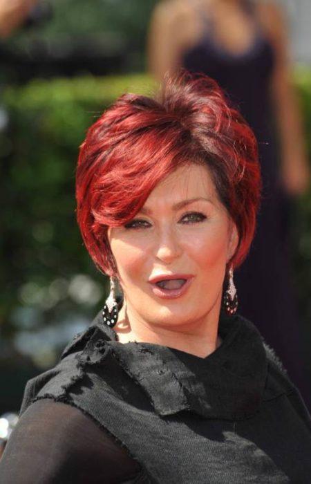 Sharon Osbourne Cabelo Vermelho Brilhante