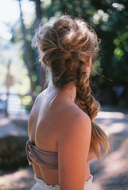 Bagunçado Penteado Trançado