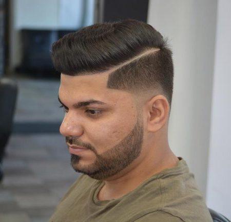 Penteado em linha Reta com Parte funda