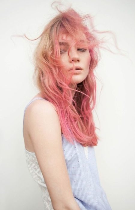 Peachy-de-Rosa Cor de Cabelo