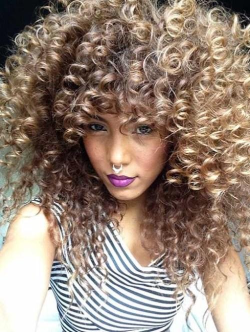 Curly Penteados Longos de 2017, com Camadas Termina