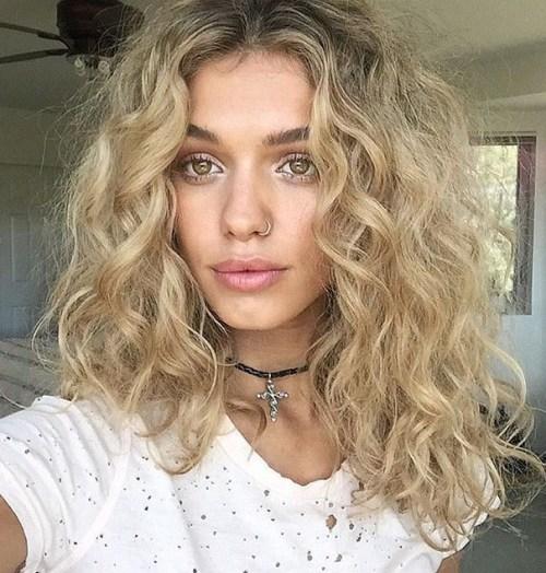 Bagunçado Médio Crespo Corte de cabelo 2017
