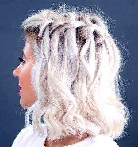 cachoeira trança para cabelo curto 2017