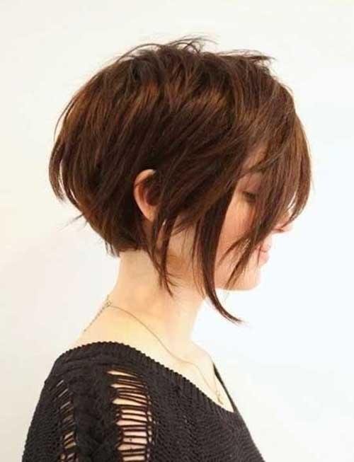 Curto Penteados para Mulheres de Cabelo Grosso