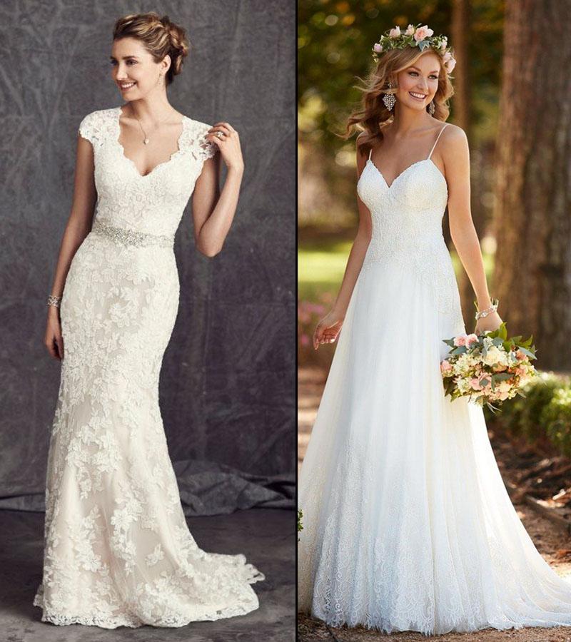 Vintage Inspirado 2018 Vestidos de Casamento do Laço