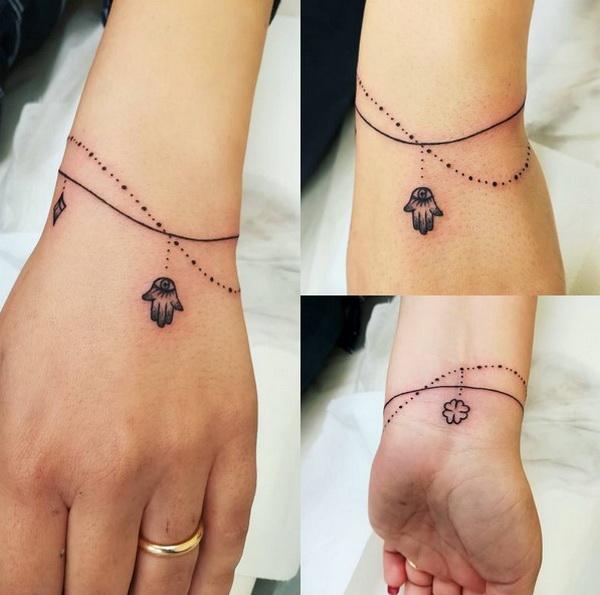 Simples Bracelete Chain de Desenho de Tatuagem