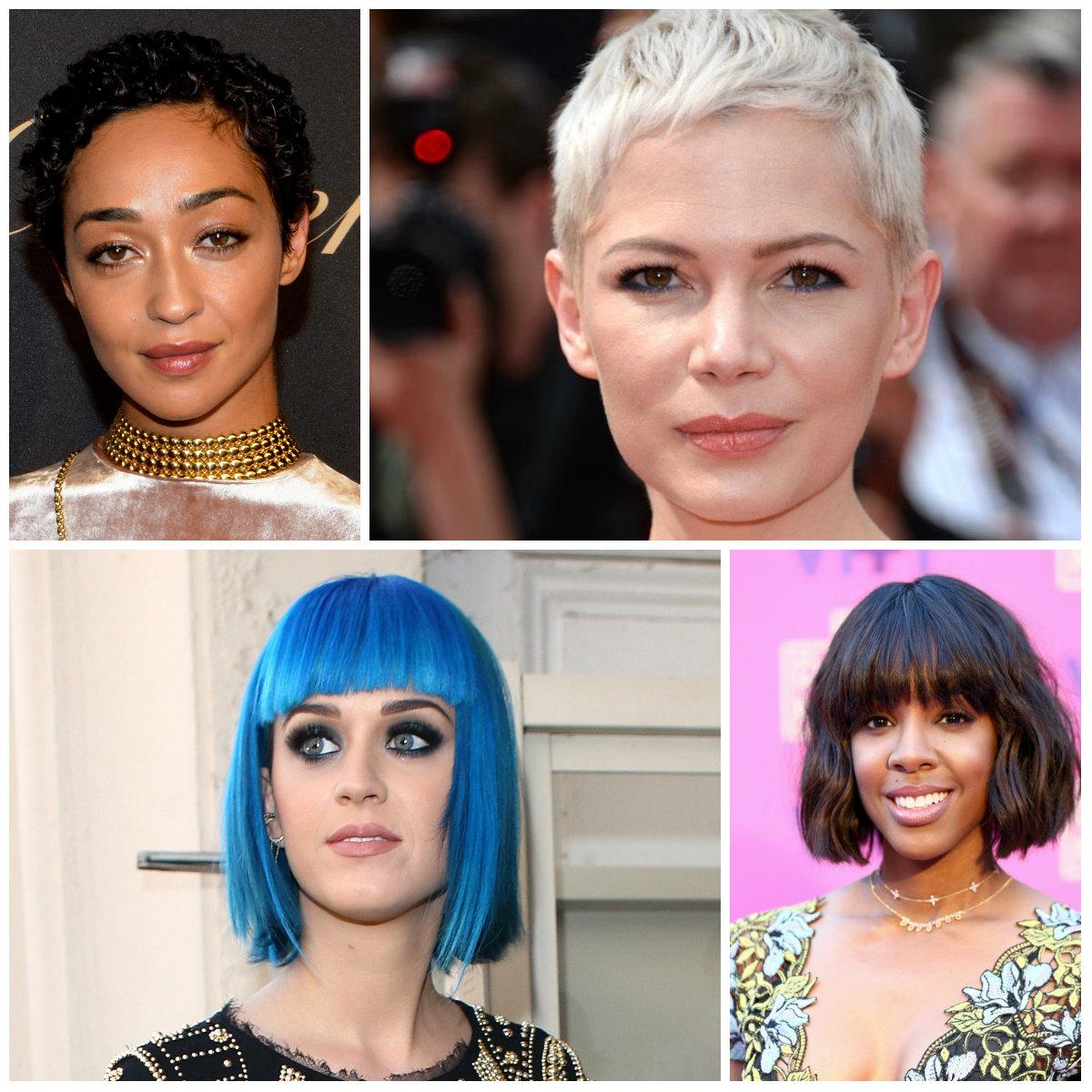 curto penteados por celebridades