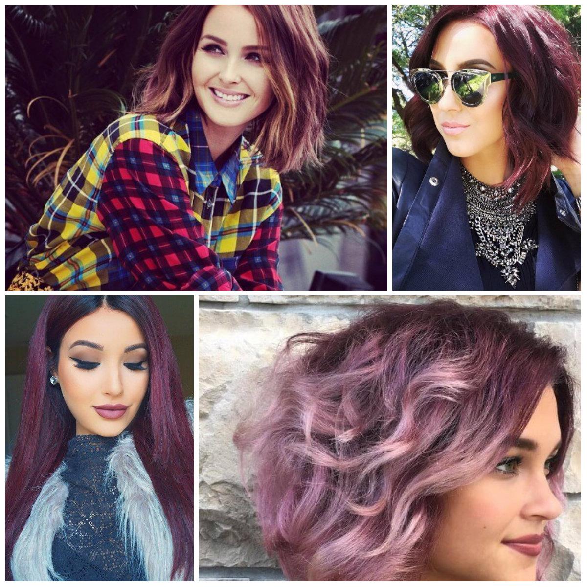 borgonha cores de cabelo