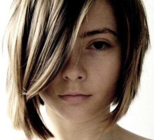 Curto em Camadas Cortes de cabelo-10