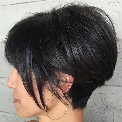 Cabelos lisos Cortes de cabelo Curto-12