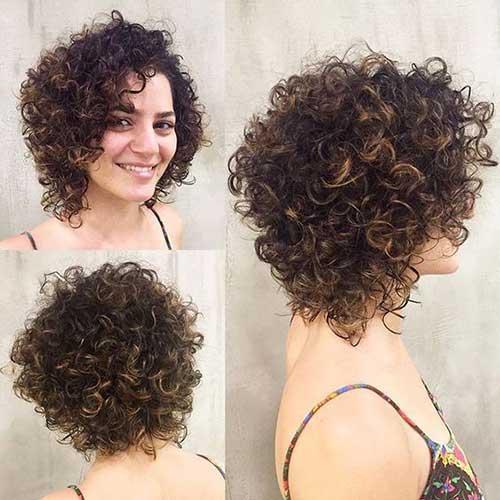 Elegante Curly Penteados para Cabelos Curtos Senhoras