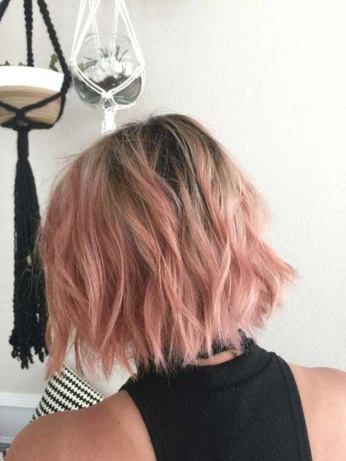 cor-de-Rosa Curto Penteados-7