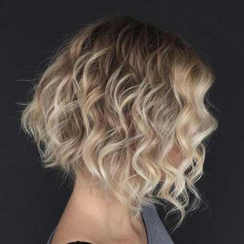 Melhor Curta-Curly Penteados