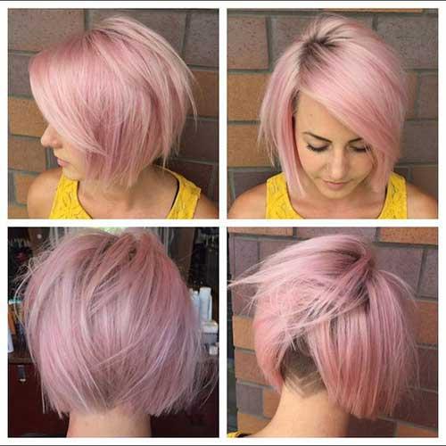 cor-de-Rosa Curto Penteados das Mulheres