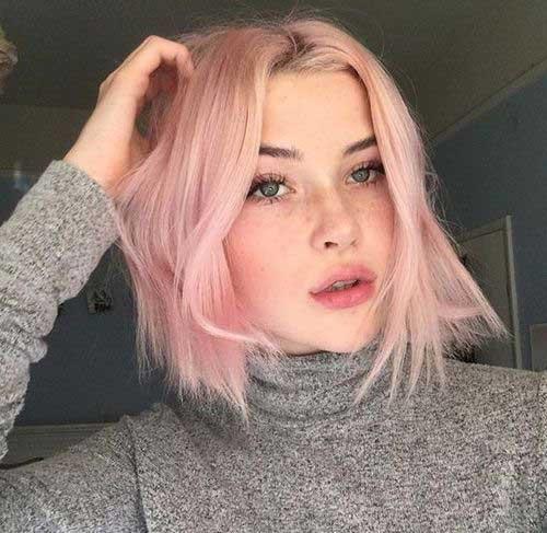 cor-de-Rosa Curto Penteados