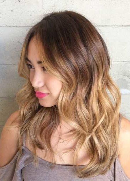 Balayage cores de cabelo elegante e linda