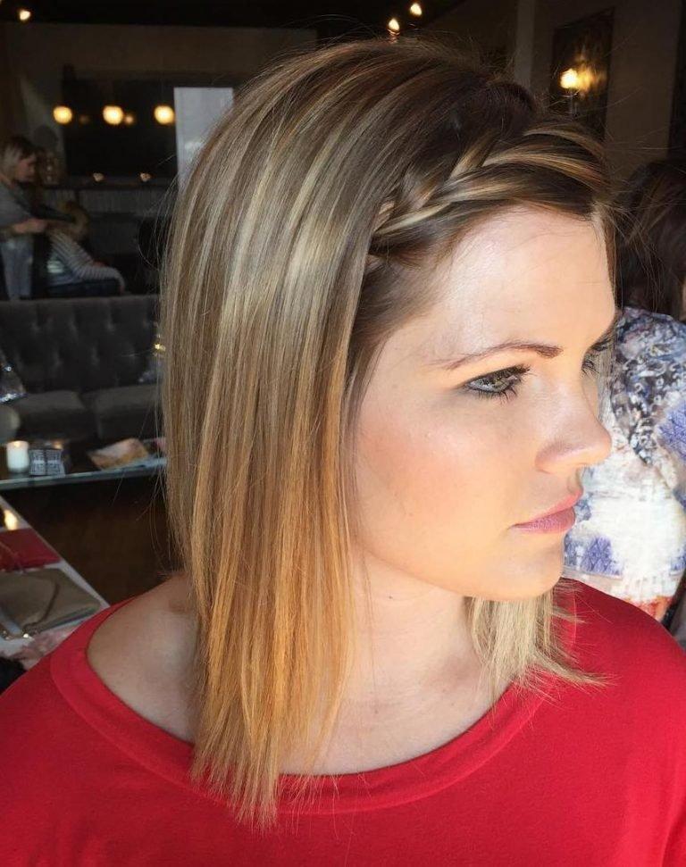 Comprimento médio Este estilo de cabelo para mulheres