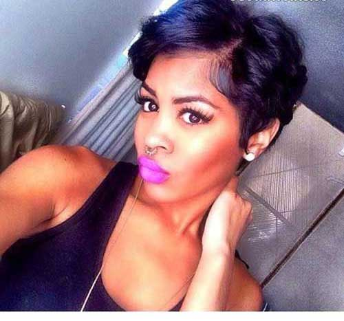 Cortes de cabelo Curto para Mulheres negras-12