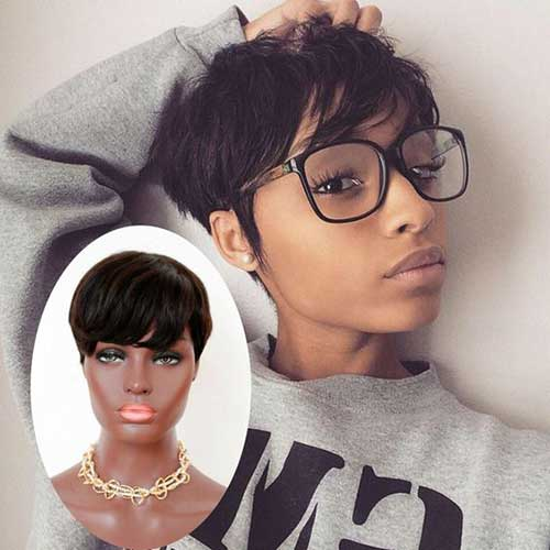 Cortes de cabelo Curto para Mulheres negras-13