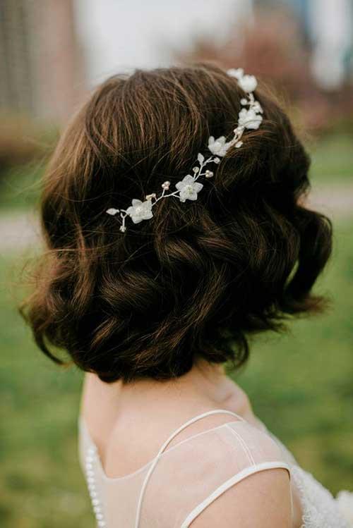 Curto Penteados para Casamento