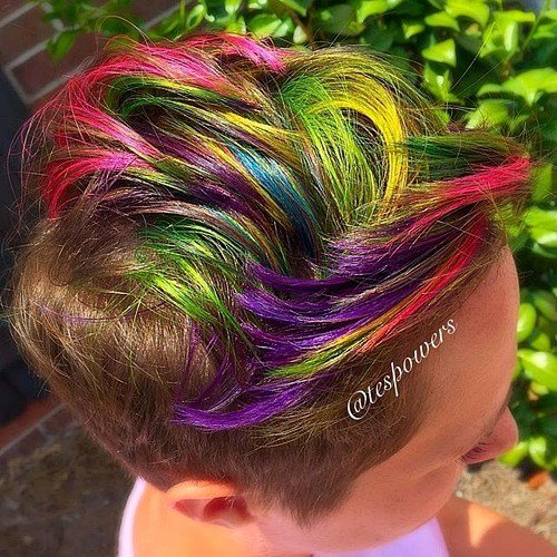 Bonita e Descolada do arco-íris Estilos de Cabelo