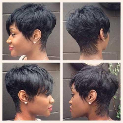 Corte de cabelo curto popular para Mulheres negras