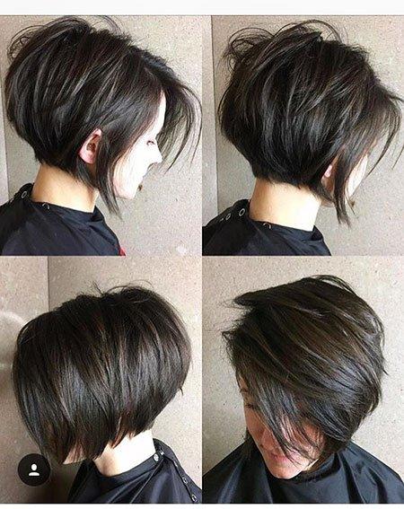 Chique penteados Bob e pixie haircuts