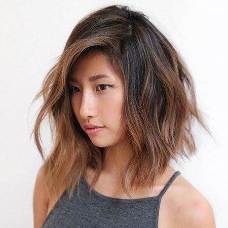 Elegante, Entrecortado por bob penteados para mulheres