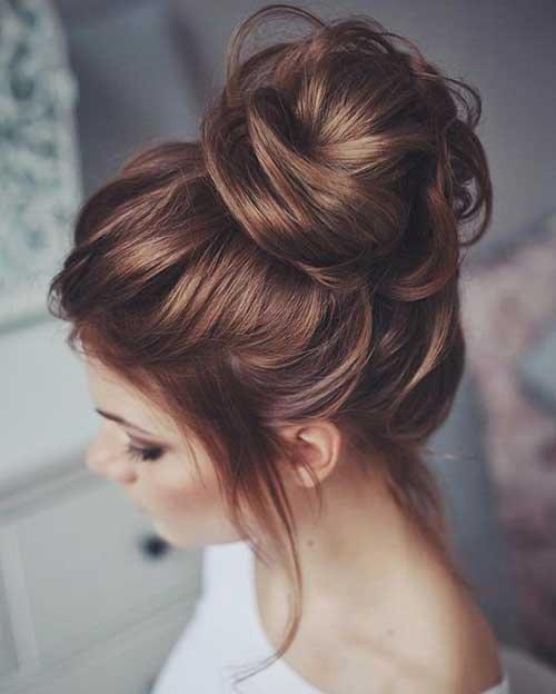 Elegante coque penteados idéia para eventos especiais