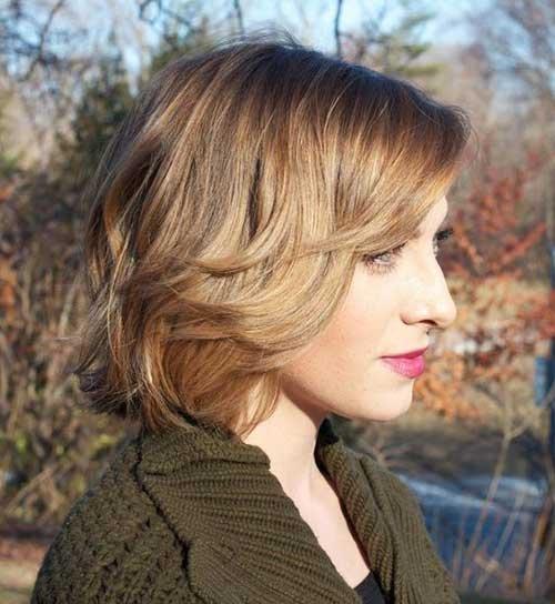 Bonito de Inverno Curto Penteados para Senhoras