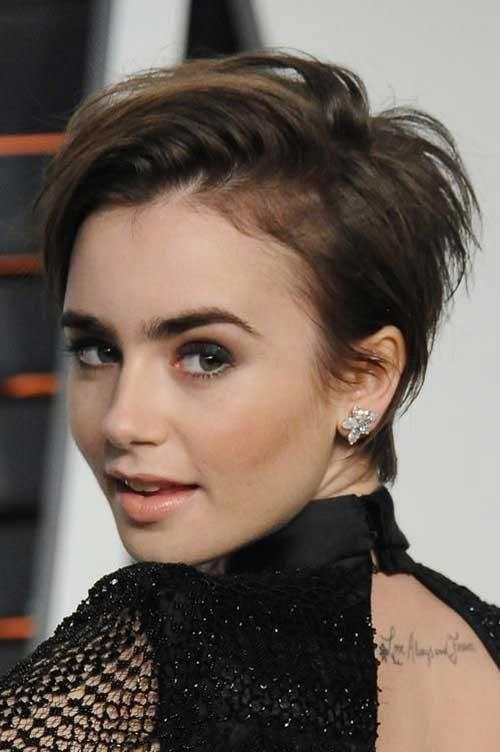 Elegante celebridades diferentes penteados curtos