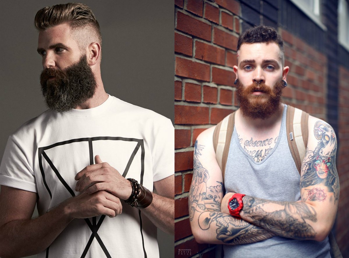 Brutal barbas e penteados para homens