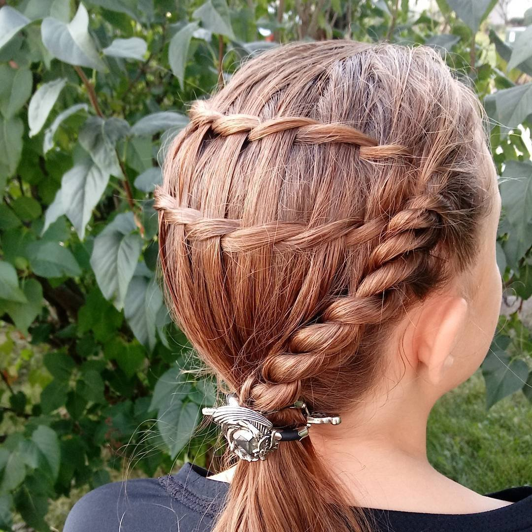 Elegante, de cabelo trançado-projetos de Ideias