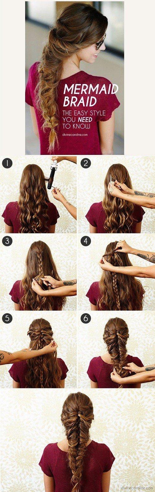 Fantástico cabelos longos tutoriais de cabelo médio