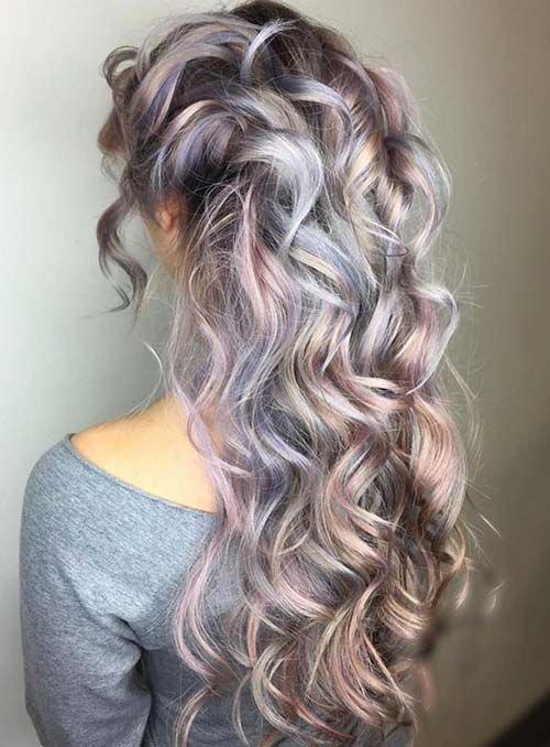 55 vibrante e única coloração do cabelo