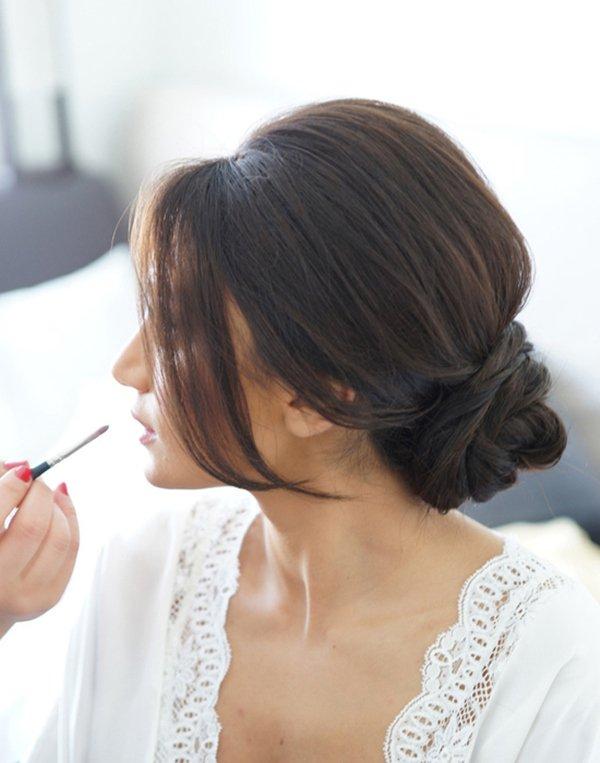 45+ o casamento perfeito corte de cabelo longo