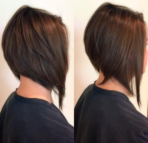 Moderna formou-se penteados bob com Camadas