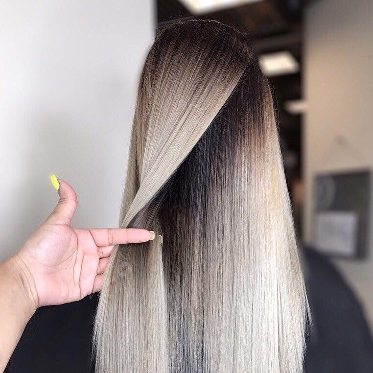 Longa Penteados com Cabelos lisos 2018