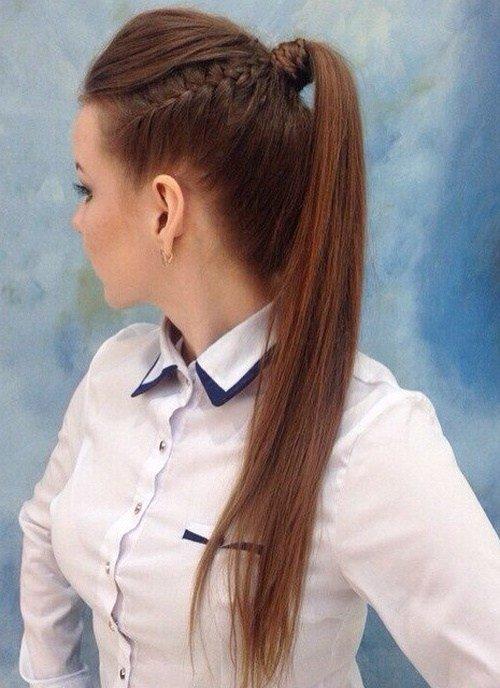 Melhor rabo de cavalo longo cabelo de comprimento médio