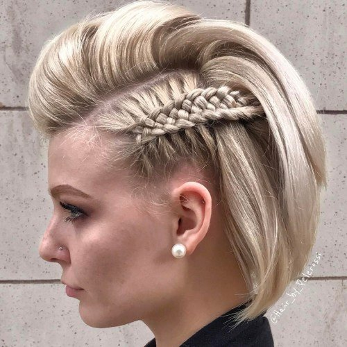 Elegante ideias para tranças para cabelos curtos