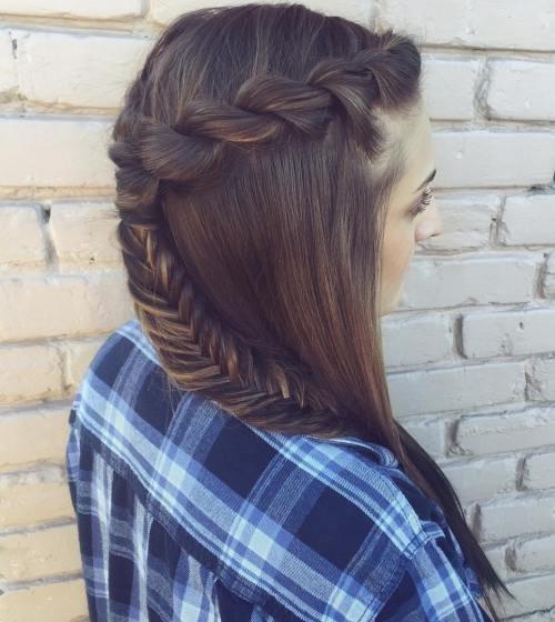 Fácil e elegante corda tranças penteado