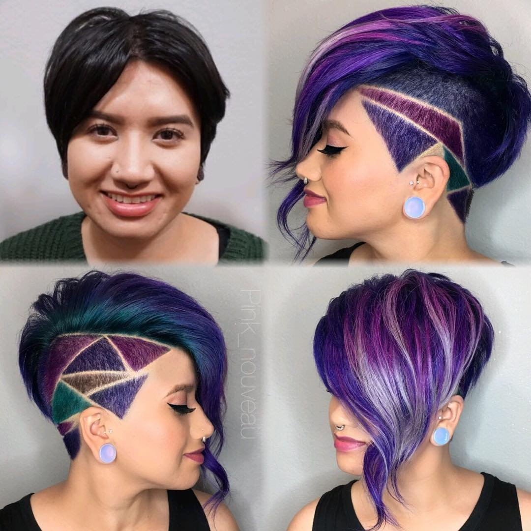 Colorido de minar o penteado projetos