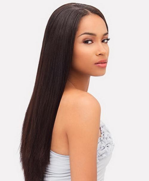 Idéias de penteados longos e curtos reto de seda para meninas